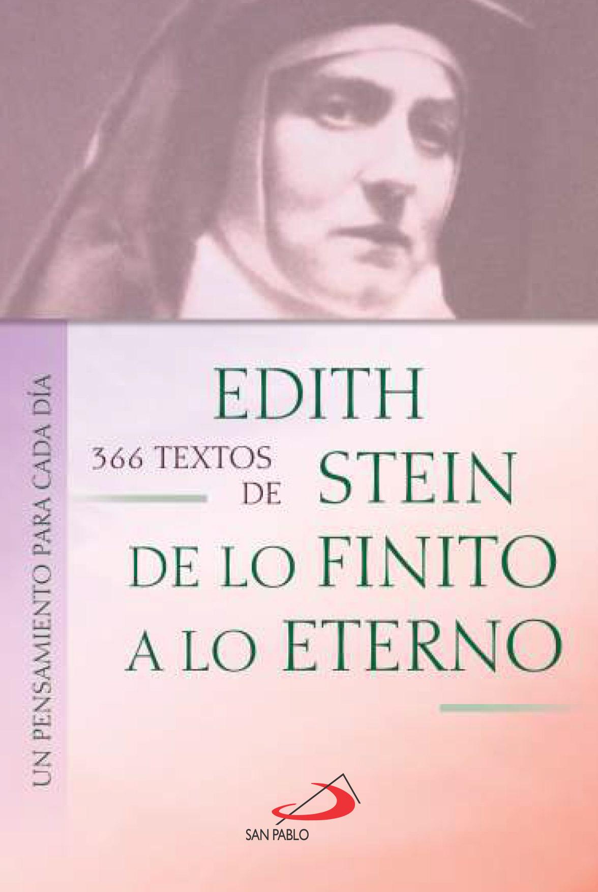 366 Textos De Edith Stein Libreria Virtual San Pablo
