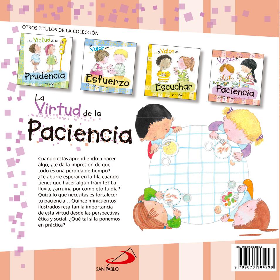 La Virtud De La Paciencia Libreria Virtual San Pablo