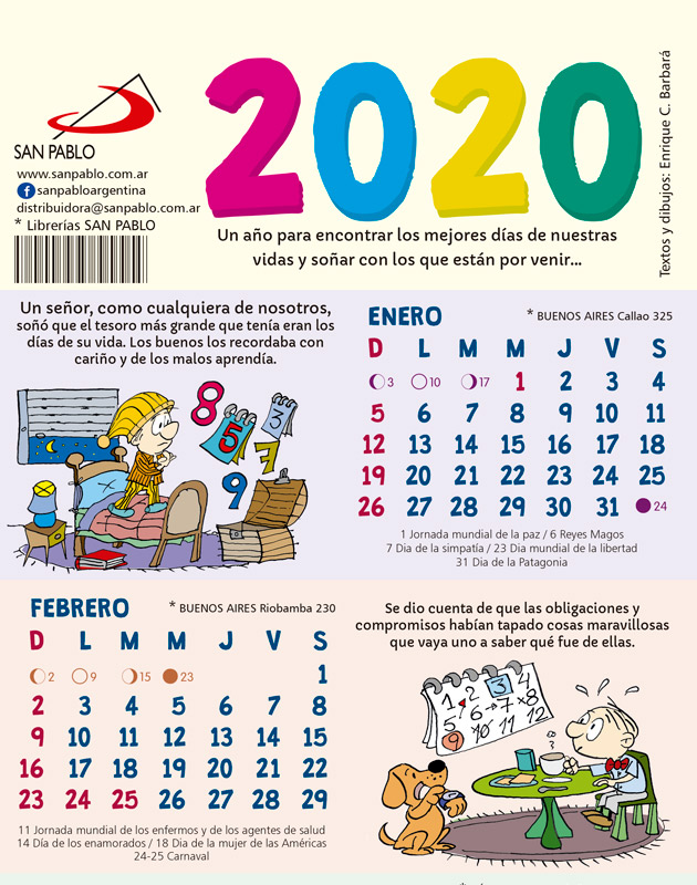 ALMANAQUE DESPLEGABLE 2020