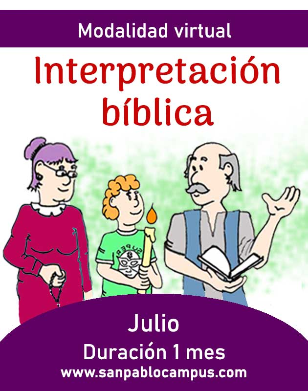 INTERPRETACIÓN BÍBLICA / CURSO VIRTUAL MENSUAL